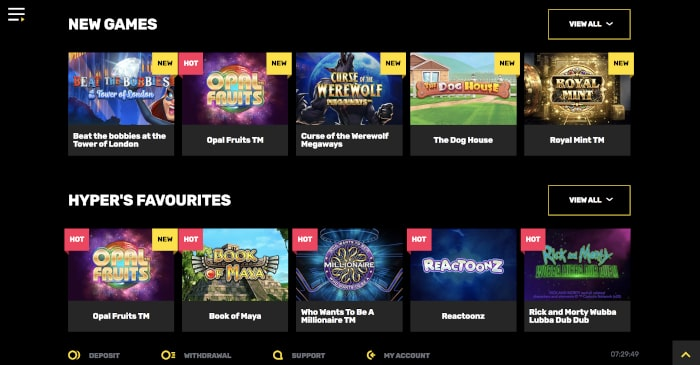 new games at hyper casino
