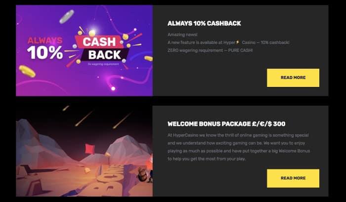 bonus at hyper casino