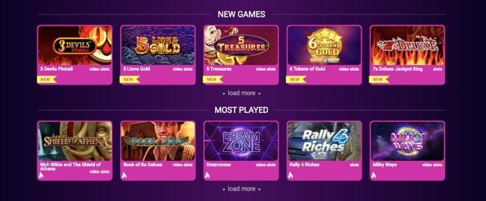 no bonus new games