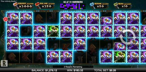 thor infinity reels jackpot respins