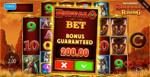 buffalo rising bonus buy slot