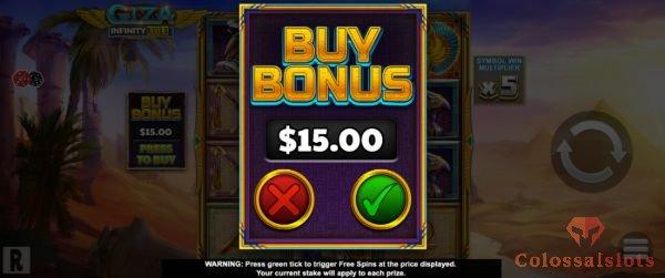giza infinity reels™ bonus buy