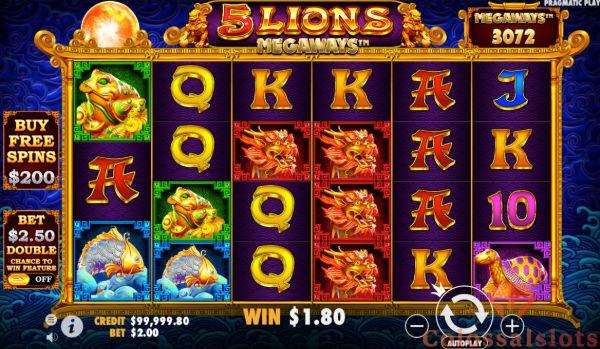5 lions Megaways™ basegame