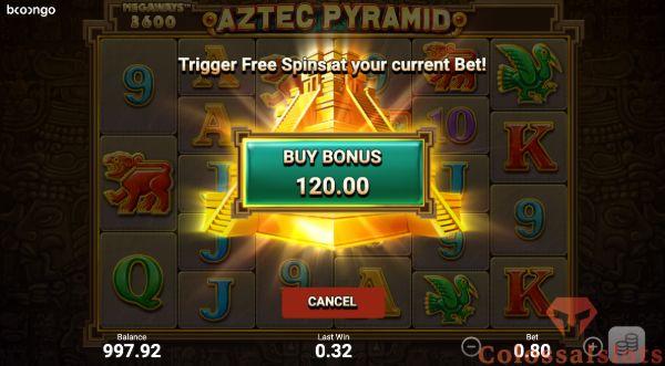 aztec pyramid megaways™ bonus buy feature