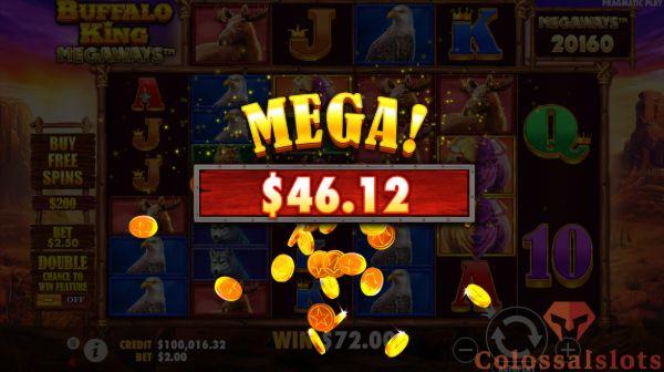 buffalo king megaways™ big win