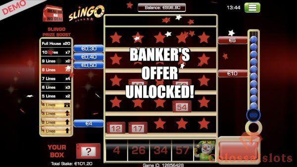Deal or No Deal Slingo banker offer
