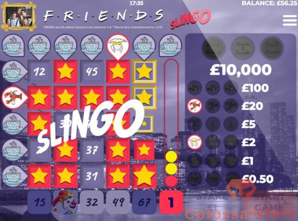 Friends Slingo winline