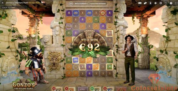Gonzo's Treasure Hunt™ win