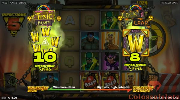 infectious 5 xways free spins