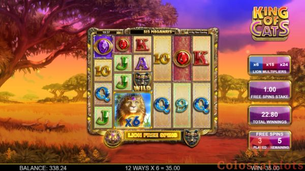 king of cats megaways™ lion free spins