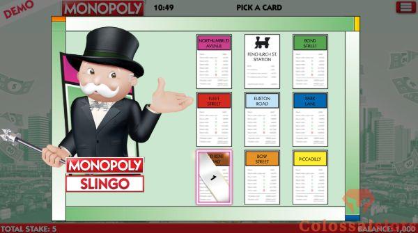 Monopoly Slingo bonus