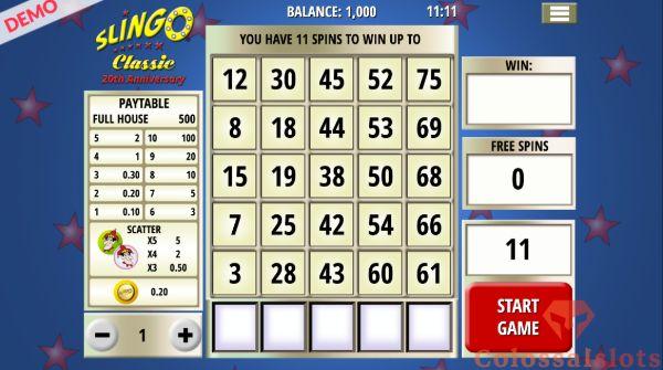 Slingo Classic basegame