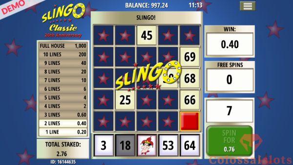 Slingo Classic winline