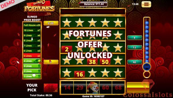 Slingo Fortunes offer unlocked