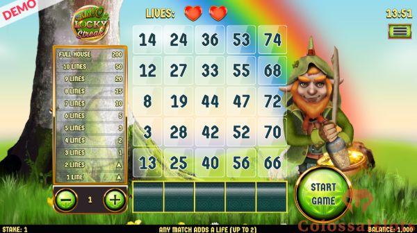 Slingo Lucky Streak basegame