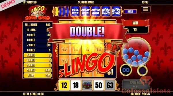 Slingo Reel King double slingo