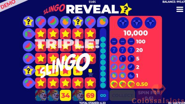 Slingo Reveal winline