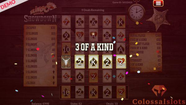 Slingo Showdown 3 of a kind