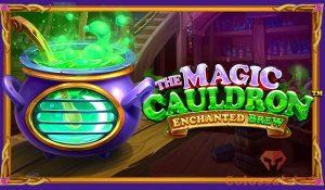 the magic cauldron enchanted brew™ logo