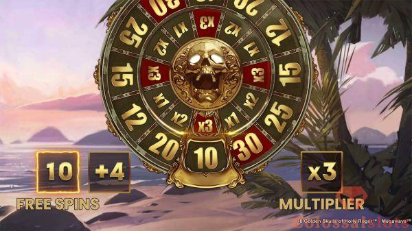 8 golden skulls bonus wheel