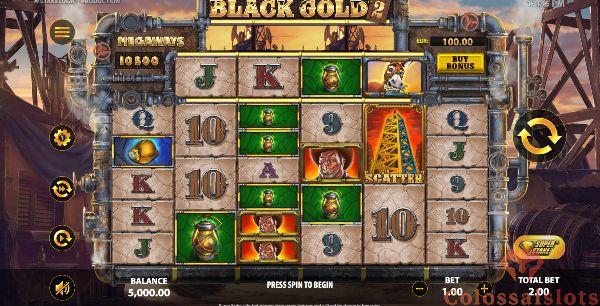 black gold 2 megaways basegame