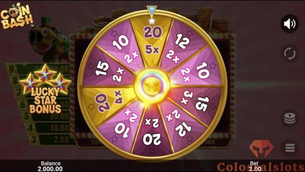 coin bash lucky star bonus