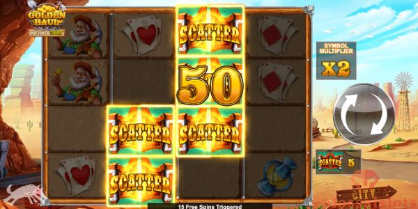 golden haul infinity reels free spins trigger