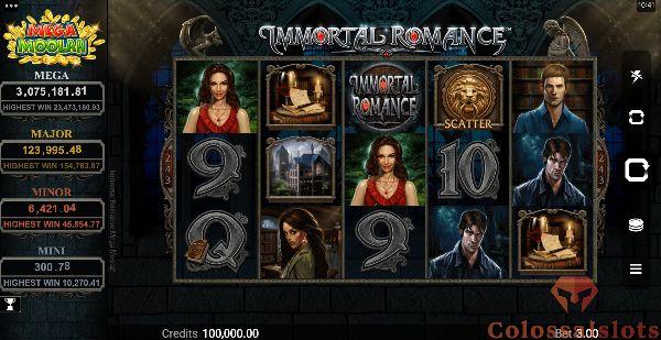 Immortal Romance Mega Moolah basegame