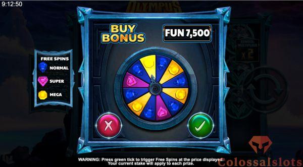 olympus infinity reels bonus buy feature
