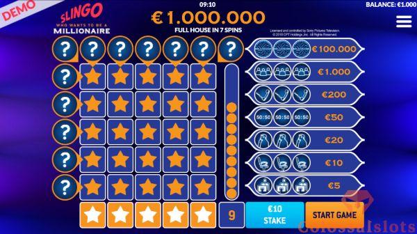 Slingo Millionaire basegame