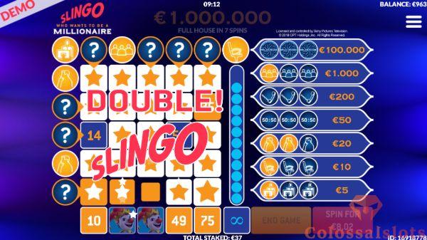 Slingo Millionaire winline