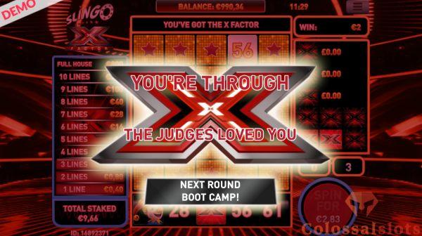 Slingo X Factor Bootcamp