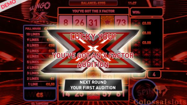 Slingo X Factor first audition