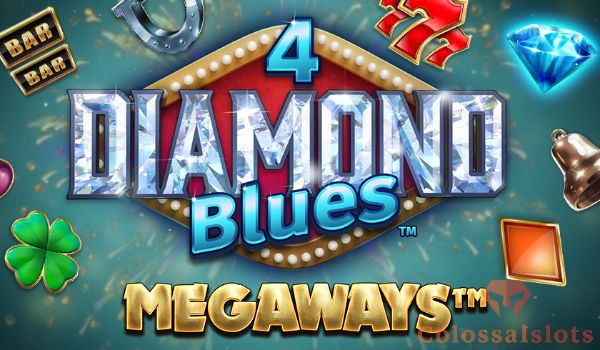 4 diamond blues megaways logo