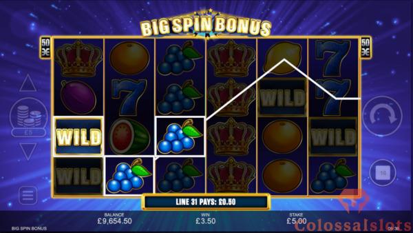 big spin bonus free spins