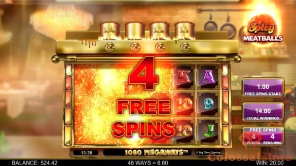 spicy meatballs megaways free spins