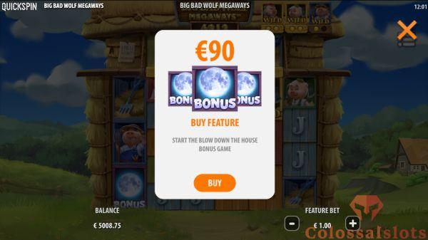 bonus buy button