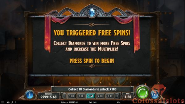 diamonds of the realm  free spins