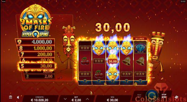 9 masks of fire hyperspins cash prize