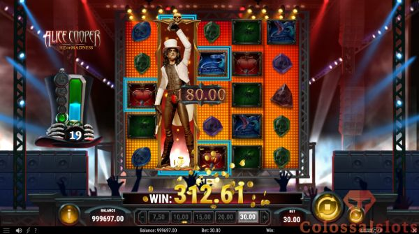 Alice Cooper and the Tome of Madness free spins