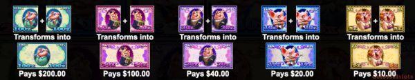piggy bank bills paytable