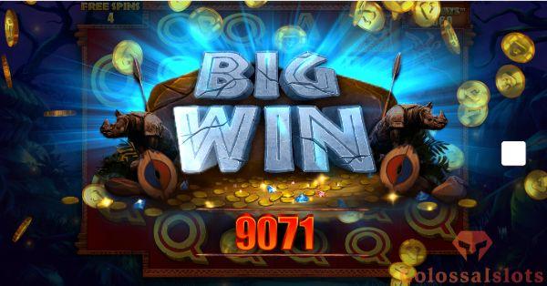 Rumble Rhino Megaways™ big win