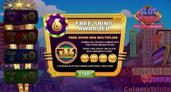 slot vegas fully loaded free spins