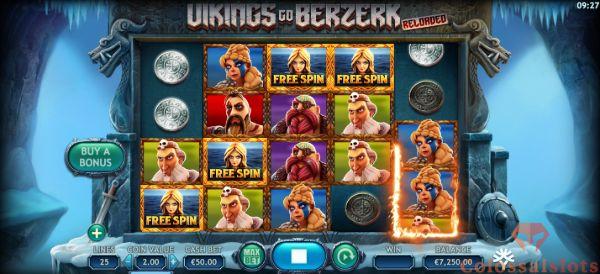 Viking go Berzerk Reloaded free spins symbols
