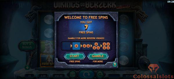 Viking go Berzerk Reloaded gamble