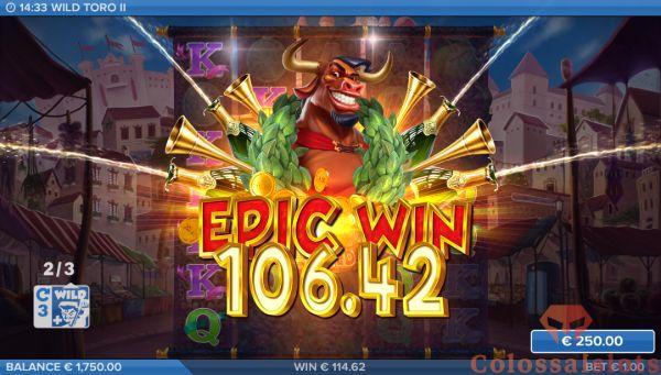 epic win wild toro II